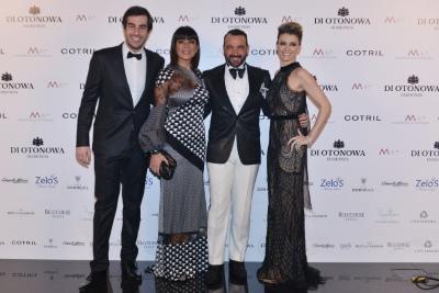 Alessandro ed Elena con Ana Laura Ribas e il compagno Marco Uzzo
