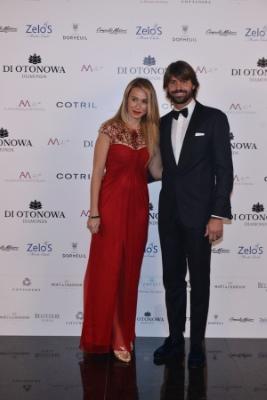 Marco Storari e la moglie Veronica